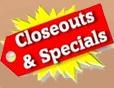closeout specials