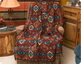 Southwestern Throws Designer Hand Woven Throw Blankets