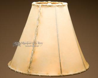 "Southwestern rawhide lamp shade - bell size. 14"""