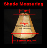"Custom Made Rawhide Lamp Shades - 20"" bottom dia."