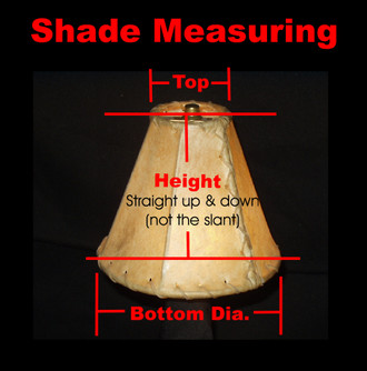"Custom Made Rawhide Lamp Shades - 20"" bottom dia."