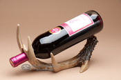 Faux antler wine bottle rack.