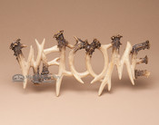 Faux Antler Welcome Sign