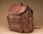 Deluxe Handcrafted Leather Back Pack -Carmel Brown (bp2)