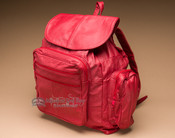 Genuine Top Grain Leather Back Pack -Red (bp3)