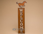 Western Horse Welcome Sign