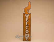 Western Rustic Welcome Plaque -Wolf (w2)
