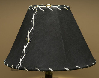 Western Black Leather Lampshade