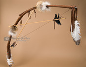 Brown Bow and Arrow Set - Navajo