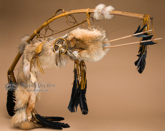Antiqued Bow and Coyote Quiver Set