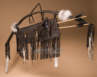 Bow, Knife and Quiver Set - Brown