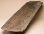Large Old Style Rustic Hand Carved Log Bowl