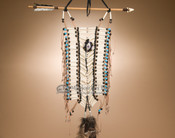 Authentic Tigua Indian breast plate with arrow.
