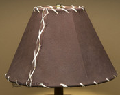 """Western Leather Lamp Shade - 12"""" Brown Pig Skin"""