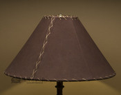 """Western Leather Lamp Shade - 18"""" Brown Pig Skin"""