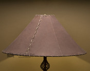"""Western Leather Lamp Shade - 24"""" Brown Pig Skin"""