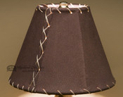 """Western Leather Lamp Shade - 8"""" Brown Pig Skin"""