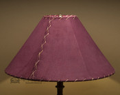 "Western Leather Lamp Shade - 18"" Burgundy Pig Skin"