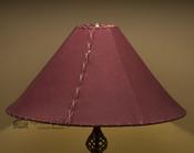 "Western Leather Lamp Shade - 22"" Burgundy Pig Skin"