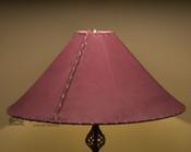 "Western Leather Lamp Shade - 24"" Burgundy Pig Skin"