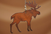 Lodge Style Metal Chainpull - Moose