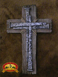 "Rustic Southwest Style Wall Cross 14"" -Barn Wood (16)"