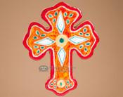 Southwestern Handcrafted Saltillo Tile Cross (61)