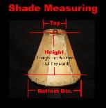 "Custom Raw Hide Lamp Shade - 6"" bottom dia."