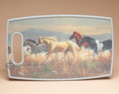 Cutting Board with Handle- Horses