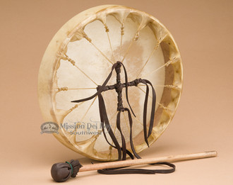 Cherokee Hand Laced Deer Drum