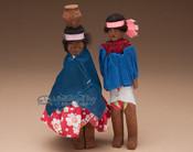 Tarahumara Carved Wooden Dolls - Set of 2