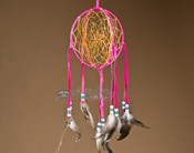 3D Native American Dreamcatcher - Pink