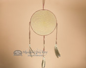 Burgundy Deer Skin Leather Dream Catcher 10""