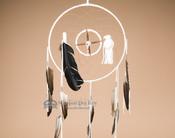"12"" Navajo Dreamcatcher/Medicine Wheel - White"