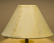 "Western Leather Lamp Shade - 14"" Gold Pig Skin"