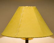 "Western Leather Lamp Shade - 16"" Gold Pig Skin"