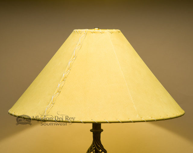 Western Leather Lamp Shade 20 Quot Gold Pig Skin Mission