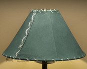 "Western Leather Lamp Shade - 16"" Green Pig Skin"