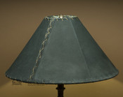 "Western Leather Lamp Shade - 18"" Green Pig Skin"