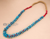 Native American Navajo Jewelry -Turquoise Necklace 29""