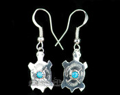 Native American Silver Earring Set -Zuni Turtles