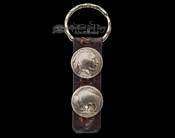Native American Indian Head/Buffalo Nickel Key Ring