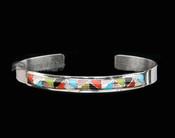 Native American Sterling Silver Cuff Bracelet -Zuni
