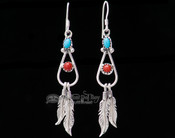 Indian Native American Silver Earrings -Navajo