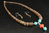 """Native American Jewelry -Necklace & Earring Set 16"""""""