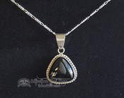 Southwest Style Sterling Silver Pendant -Triangle