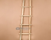 Southwestern hand crafted wooden Kiva ladder. 5'