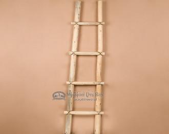 Southwestern hand crafted wooden Kiva ladder. 5'
