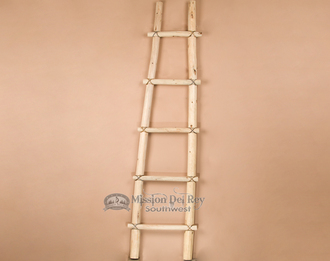 Southwestern hand made pine Kiva ladder by the Tarahumara Indians. 6'