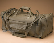 "Genuine Cowhide Duffle Bag 23"" -Olive (b17)"